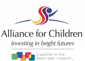 Alliance for Children Investing in bright futures logo A partner in the Smart Start network