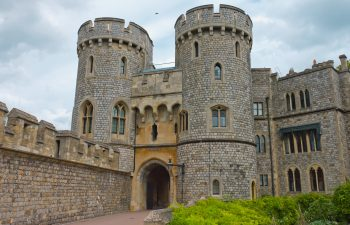Close up of Windsor Castle in England