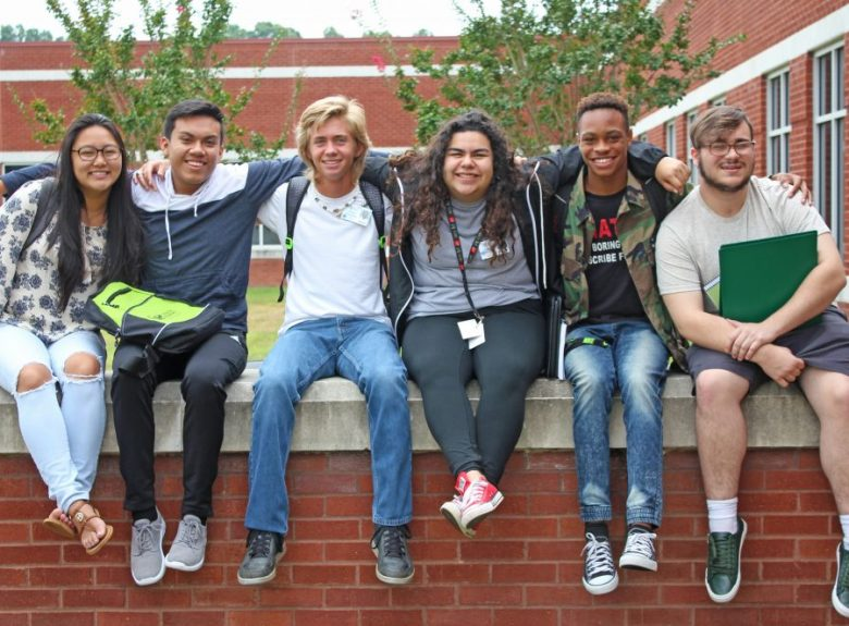 Students on the Wingate University campus