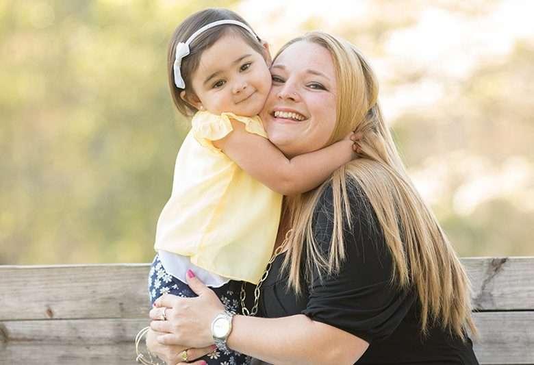 Tina with her daughter