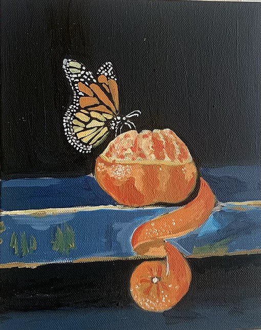 Butterfly Painting by a Student