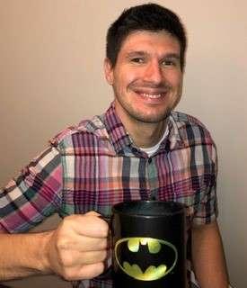 Ryan Brown drinking Coffee