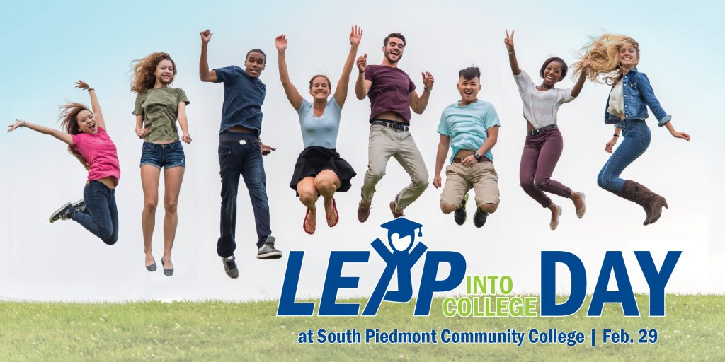 Students Jumping for Leap Into College Day